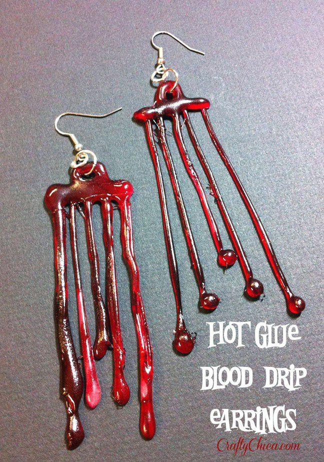 Blood-drip-earrings-diy