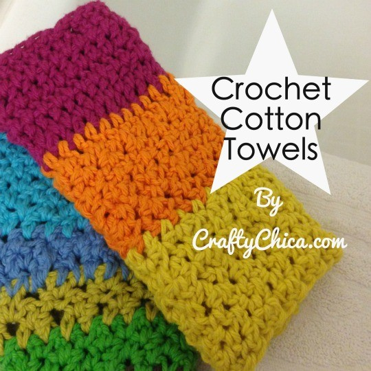 Use a combo stitch to make colorful, functional washcloths!
