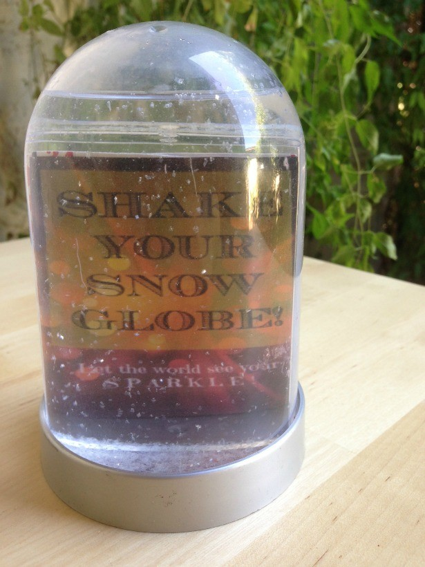 Here's a snow globe I made from my printable!