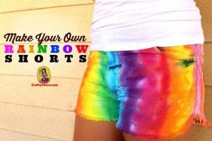 How to make rainbow shorts