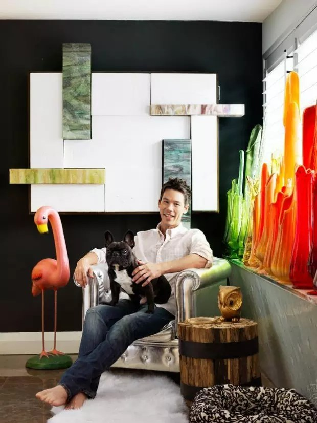 David Bromstad in his coffee corner in his house. Photo credit: HGTV.