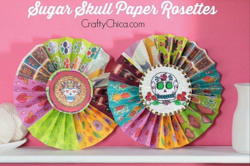Dia De Los Muertos Paper Rosettes The Crafty Chica
