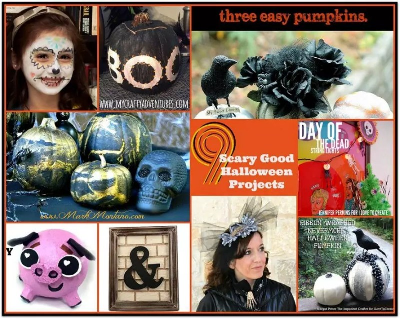 9 Halloween DIYs, graphic by Margot Potter, DIYdoyenne.com