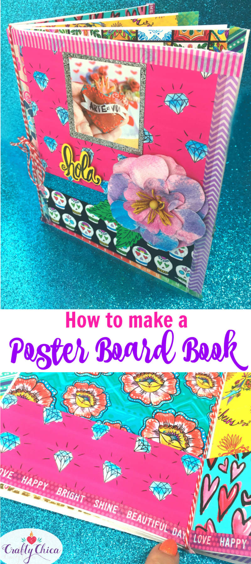 How to make a book by folding poster board