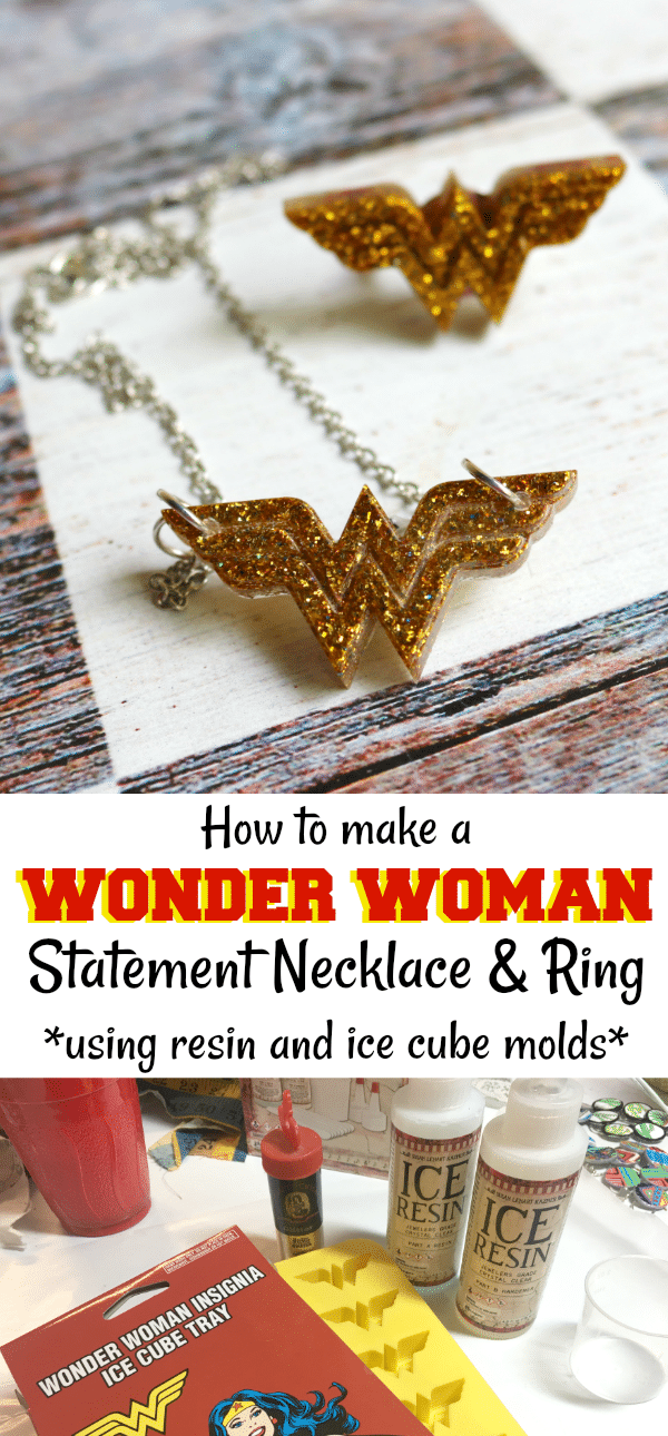DIY Wonder Woman Statement Necklace by CraftyChica.com.