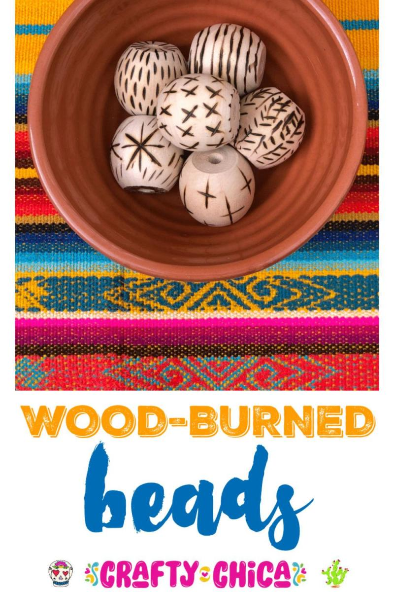 Wood burn your beads, get creative! #craftychica #woodburning