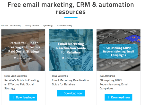 Enchant agency marketing resources