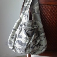 Cargo non-embargo! - Men's cargo shorts upcycled into a reversible bag