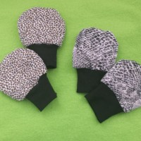 Leopard and Python Print Baby Scratch Mittens - Gotta love DIY
