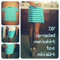 DIY Upcycled Men's T-Shirt into a Mini Skirt