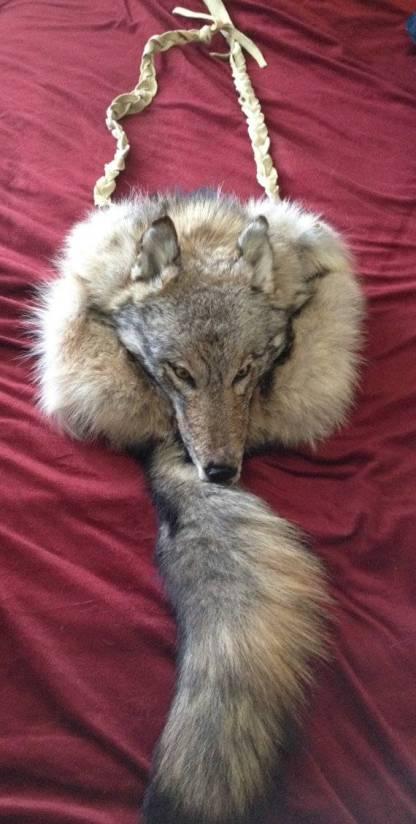 Taxidermy Wolf bag
