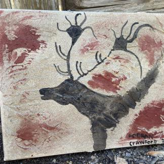 Cave painting replica