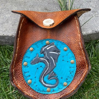 Dragon Sporran leather tooled