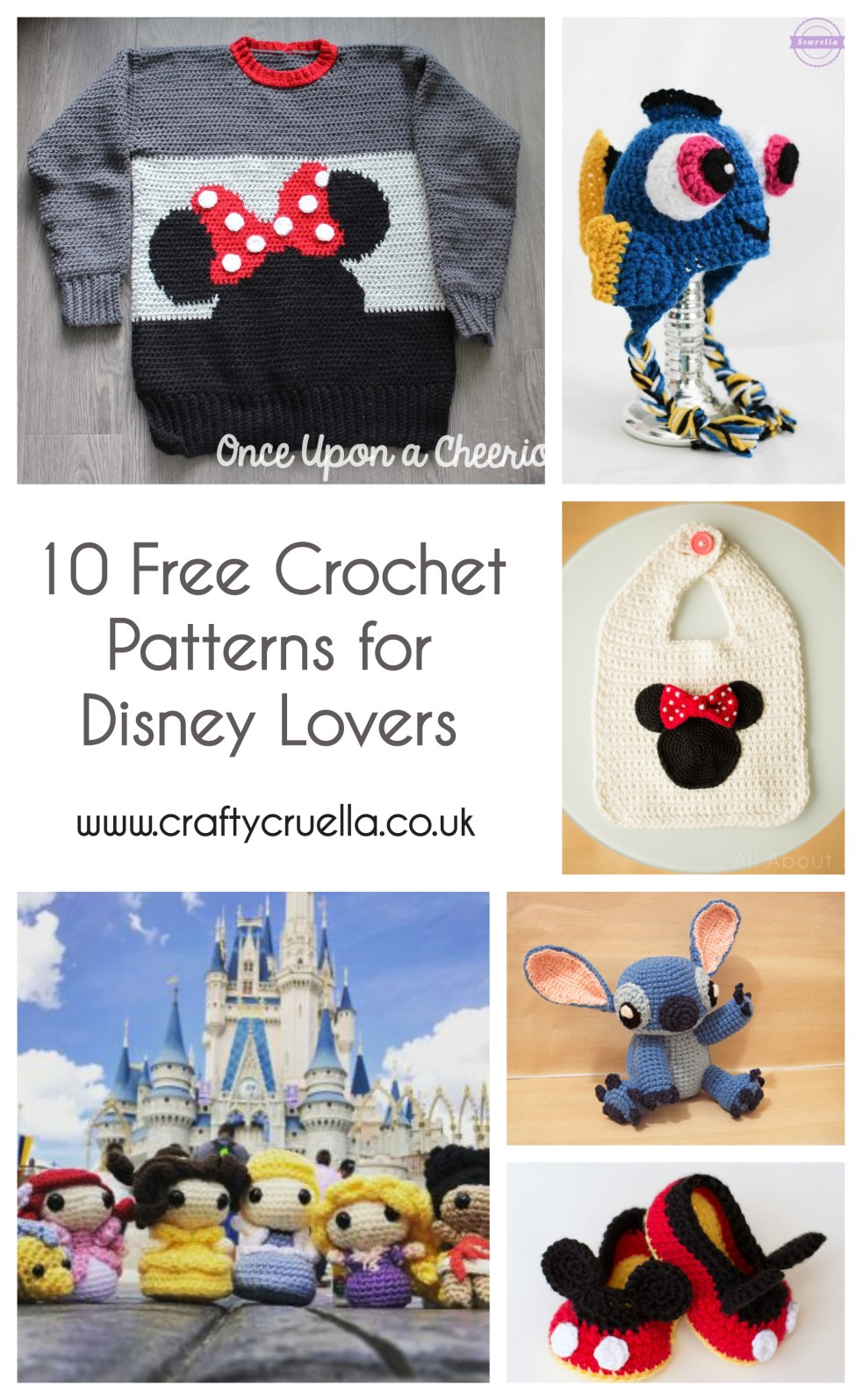 44d08d3749000 10 Free Crochet Patterns for Disney Lovers - Crafty Cruella