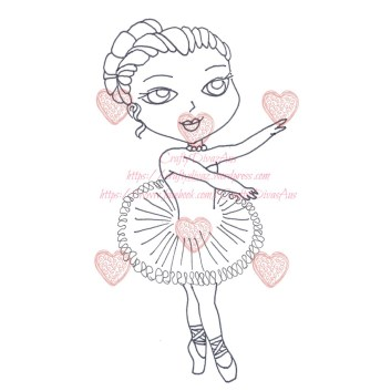 Digital Stamp Ballerina2 - Blog Pic
