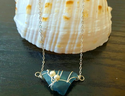 Genuine sea glass necklace