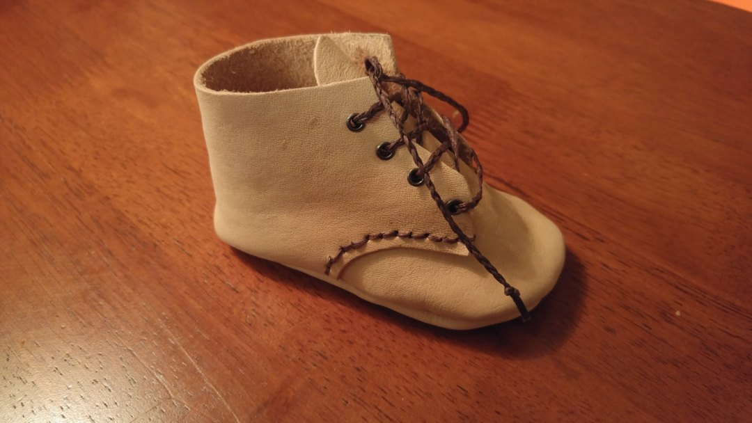 Handmade Leather Baby Bootie