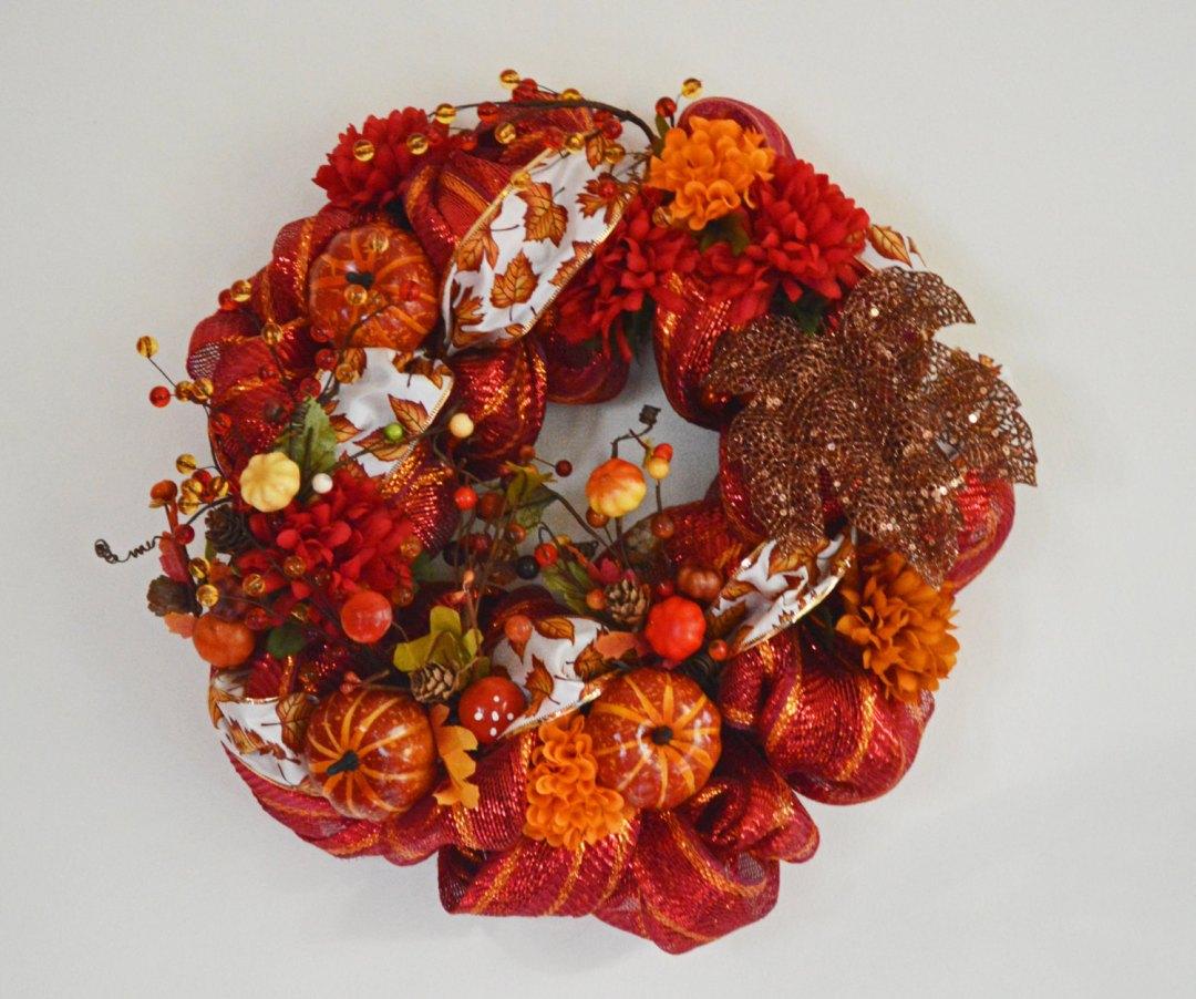 Halloween Thanksgiving Wreath