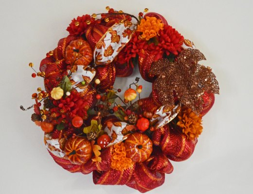 Halloween Thanksgiving Wreath