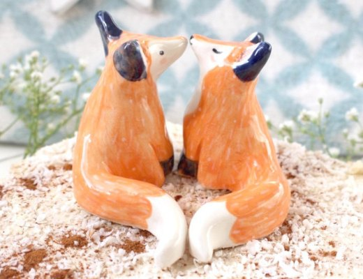 Earthenware Clay Foxes