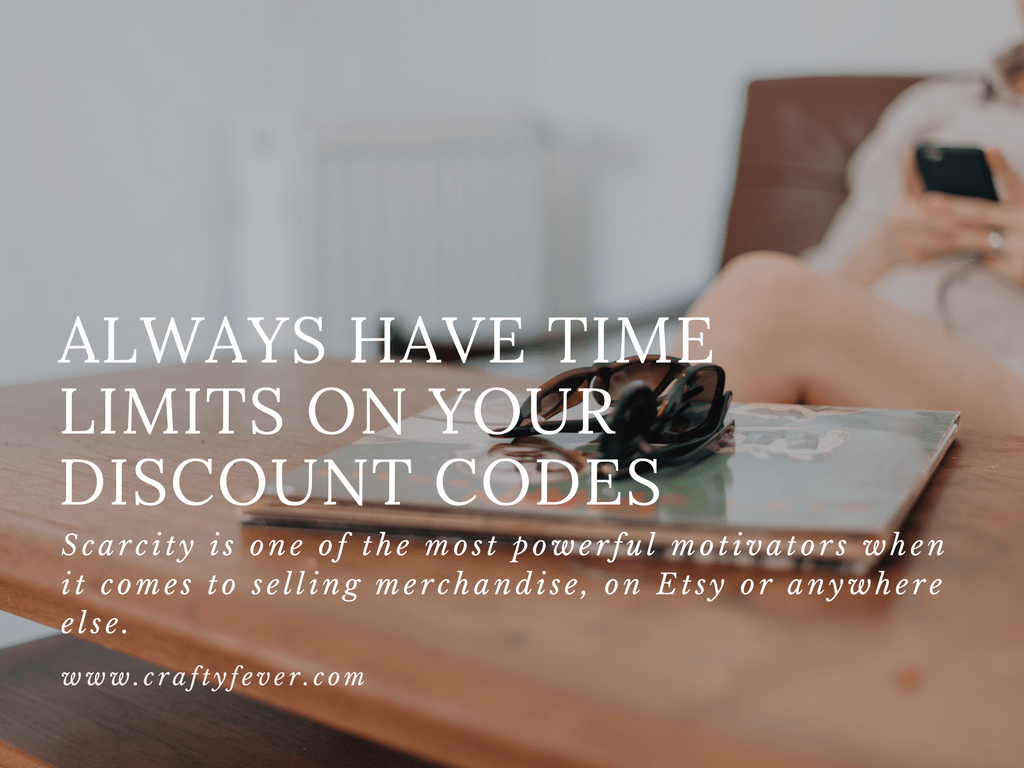 Promoting your Etsy shop with discounts