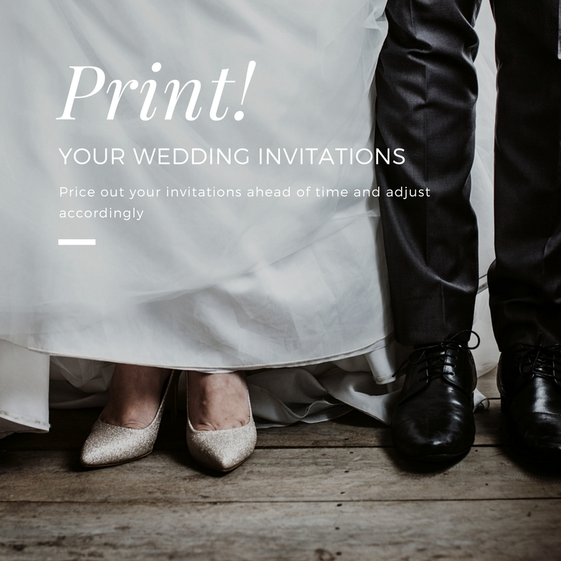 Price out your invitations ahead of time and adjust accordingly