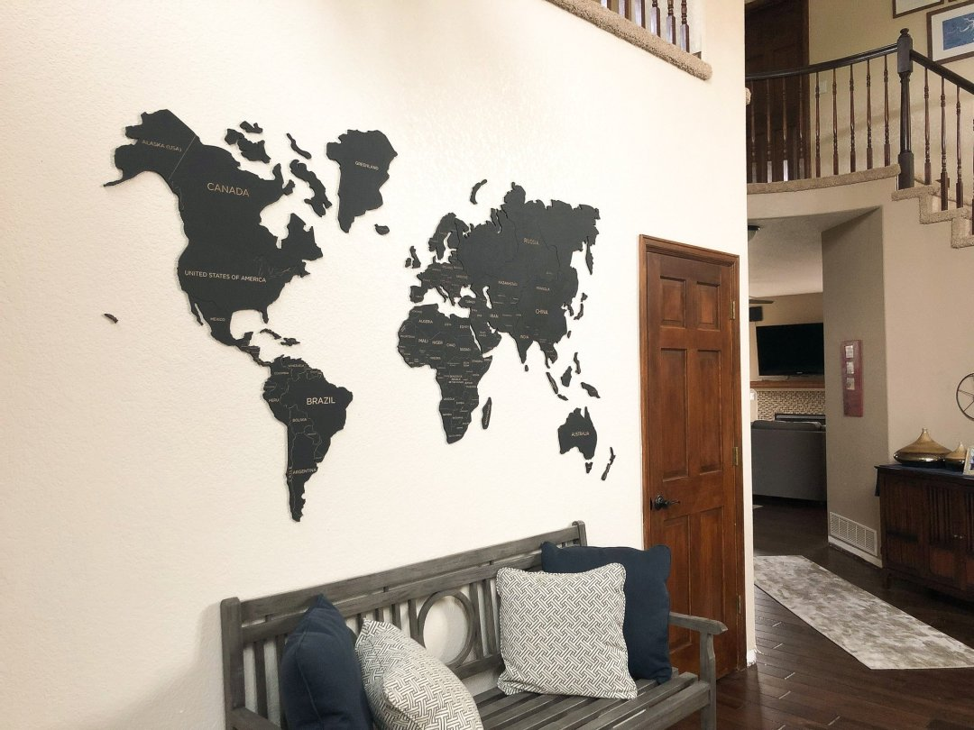 World Map With Countries on Etsy