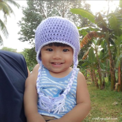 Crochet a Beanie Hat with Earflaps and Braids for All Ages