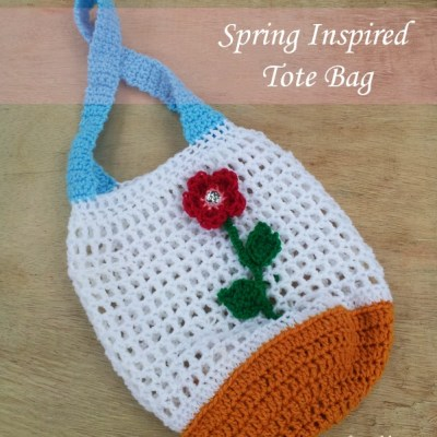 Spring Inspired Tote Bag – Free Crochet Pattern