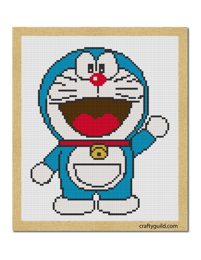 doraemon free cross stitch pattern-craftyguild.com