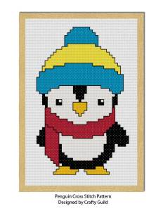penguin cross stitch pattern-01