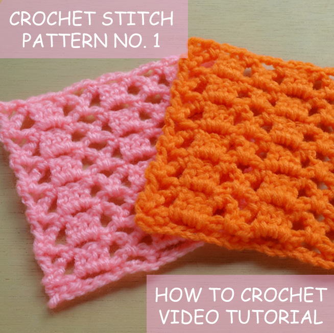 crochet stitches pattern no 1