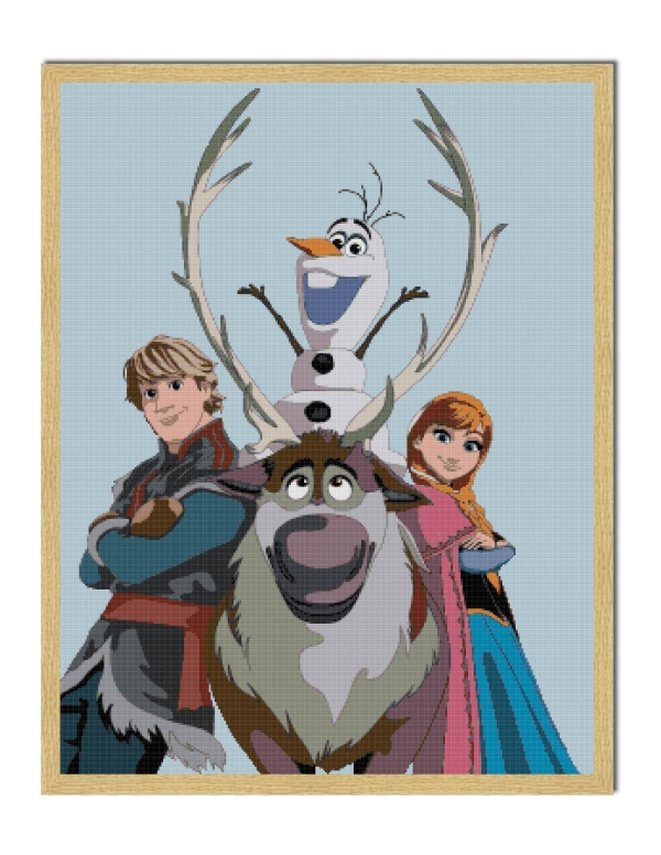 free frozen cross stitch pattern 1