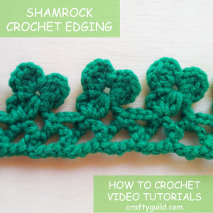 shamrock crochet edging