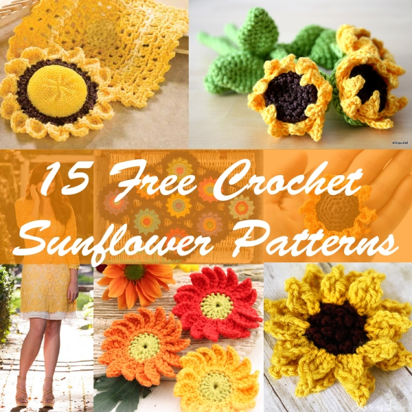 15 Free Crochet Sunflower Patterns