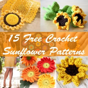 15 free crochet sunflower patterns-01
