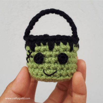 Mini Frankenstein Crochet Basket