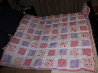 Quilt for baby girl