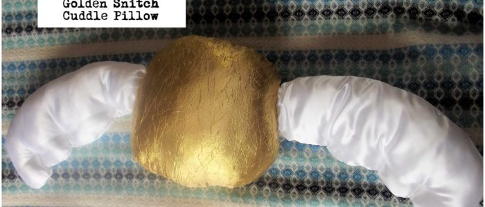Golden Snitch Cuddle Pillow