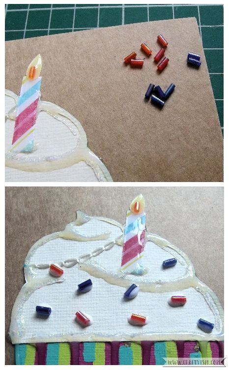 How-to Cupcake Birthday Card Step 6