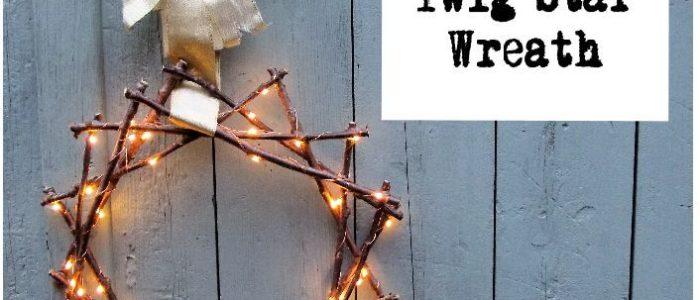 How to - Fairy Light Twig Star Wreath