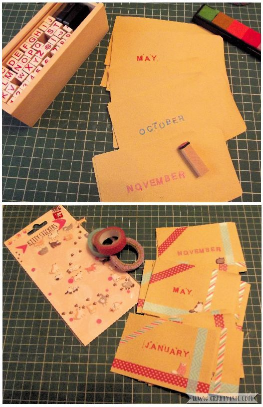 How to Make Easy Yearly Journal envelopes