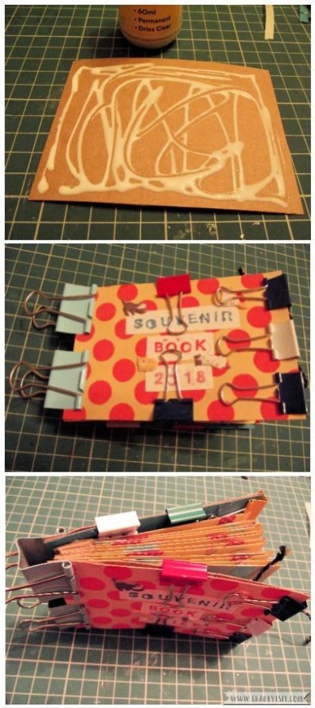 How to Make Easy Yearly Journal glue covers