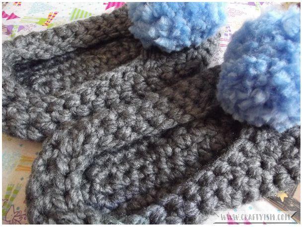 #CraftBlogClub Secret Santa 2017 slippers