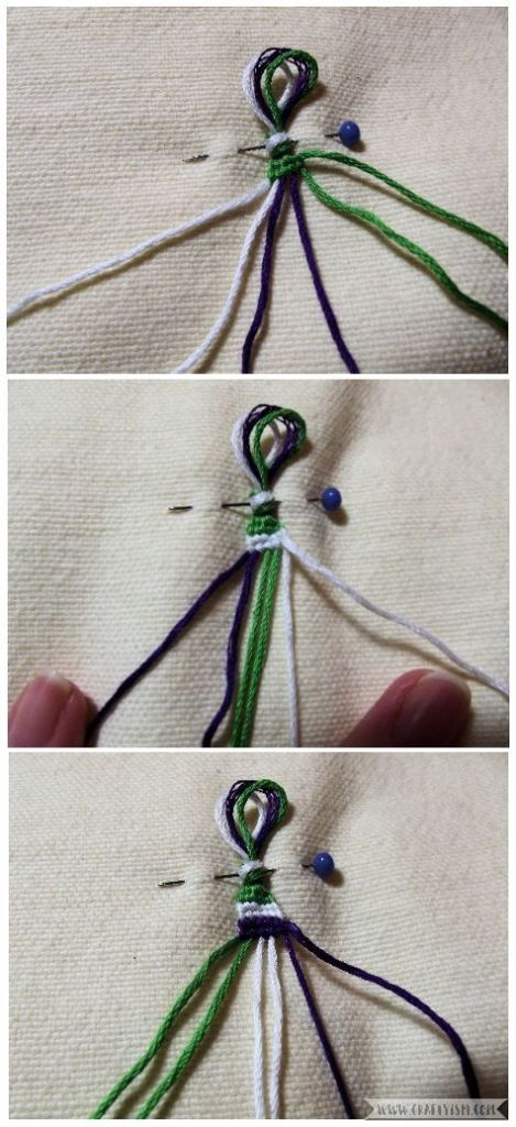 How to make - Suffragette Friendship Bracelets | Striped bracelet pattern