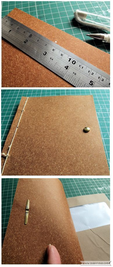 Craftyism - Upcylced Envelope Notebook | Fastening 1