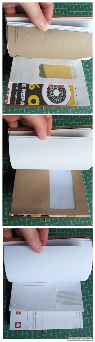 Craftyism - Upcylced Envelope Notebook | Finished Pages