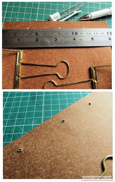 Craftyism - Upcycled Envelope Notebook | Sewing Holes