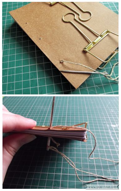 Craftyism - Upcycled Envelope Notebook | Sewing Binding 1