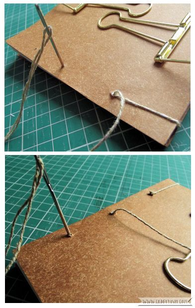 Craftyism - Upcycled Envelope Notebook | Sewing Binding 2